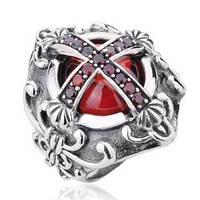 Мужское серебряное большое кольцо Крест Флер - де - лис 26,57 гр 21,5 размер