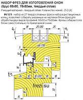 Комплект фрез для евроокон 68мм+78мм