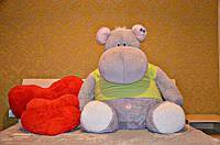 Мягкая игрушка огромный Бегемот 170 см.Игрушка бегемотик