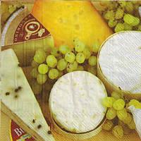 """Салфетка для декупажа """"Сыр и виноград"""""""