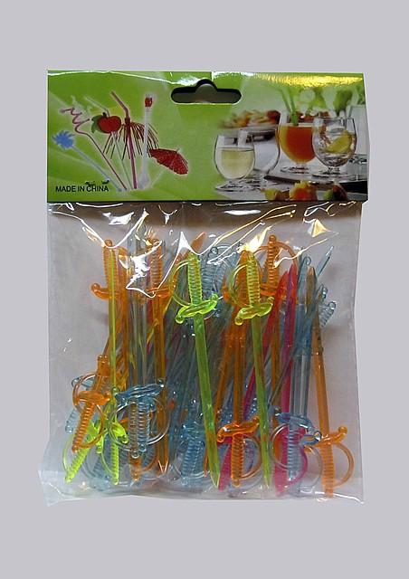 """Шпажки пики пластиковые для фруктов канапе """" Эфес шпаги """""""