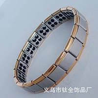 Энергетический браслет -  Gold Line с турманием №1 (80камней)