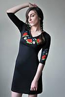 Плаття з вишивкою Маки червоні