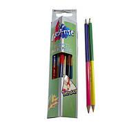 Карандаши цветные Marco Grip-Rite двухсторонние 24 цвета 9101-12CB