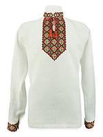 Вышиванка мужская оригинальная необычная цветная крестик, цвет вышивки и ткани любой под заказ