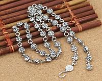 Мужская серебряная цепочка Chrome Hearts Кельтская лилия 61 см 64,6 гр