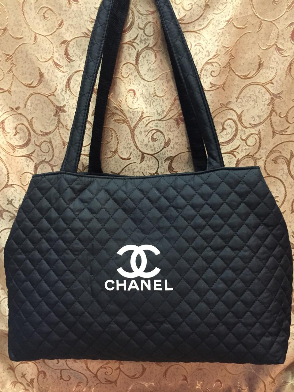 Стеганная молодёжная женская сумка CHANEL черная купить