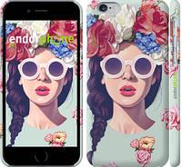 """Чехол на iPhone 6 Девушка с цветами """"2812c-45"""""""