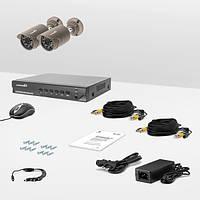 Комплект проводного видеонаблюдения Страж AHD Базовый, фото 1