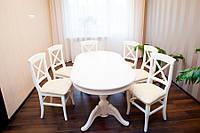 Стол для гостиной комнаты, дубовый (белый)