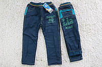 Утепленные котоновые брюки на флисе 2-  года