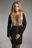 Эксклюзивное кашемировое пальто с натуральным мехом лисы, разные цвета