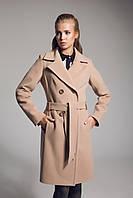 Классичекое бежевое кашемировое пальто с поясом, разные цвета