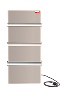 ИК керамический  панельный полотенцесушитель-обогреватель 2 в 1  DIMOL белый 370 Вт