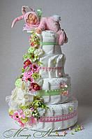 """Торт из памперсов """"Яркое событие"""" 120 штук"""