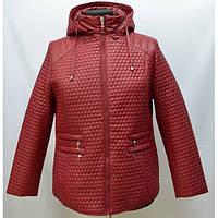 Модная стеганная куртка прямого кроя больших размеров