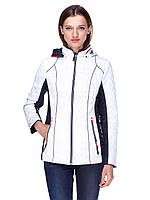Демисезонная двухсторонняя женская куртка, короткая, на змейке