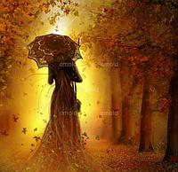 """Алмазная живопись набор """"Силуэт женщины с зонтом"""""""