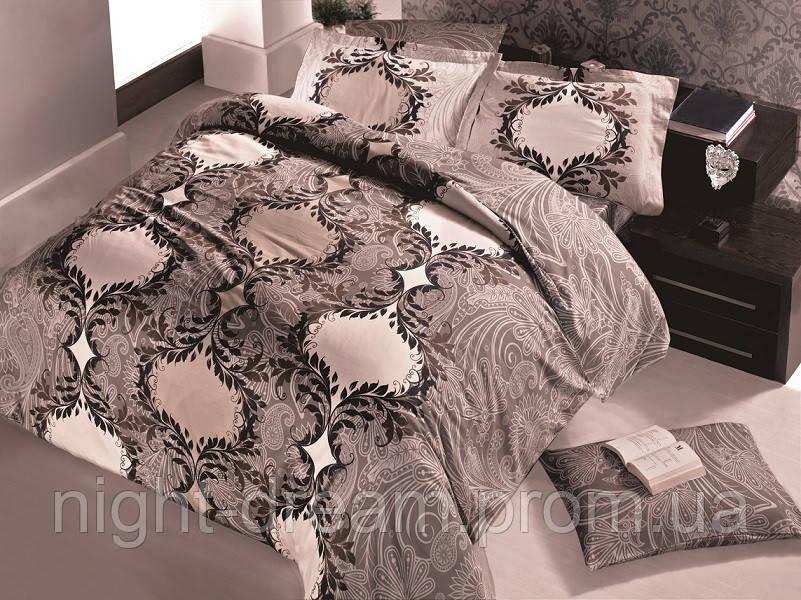 Комплект постельного белья евро 200х220 сатин Gokay Miray