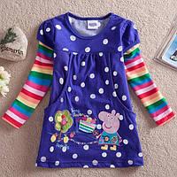 Платье - туника детское разноцветное Peppa Pig