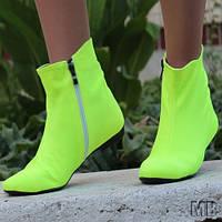 Ботиночки яркие салатовые женские. АРТ-0104