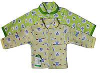 Кофта рубашка для новорожденных Капитошка