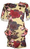 Женское платье цветы мидл