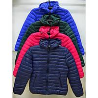 Молодежная женская куртка стеганная в спортивном стиле разные цвета
