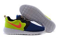 Мужские повседневные кроссовки Nike Roshe Run, сетка, синие, Р.  42 43 44