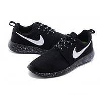 Мужские повседневные кроссовки Nike Roshe Run, сетка, черные, Р. 41 45