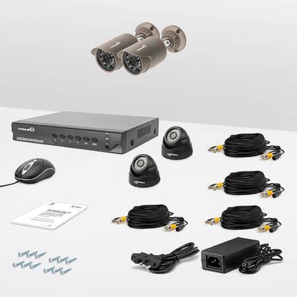 Комплект проводного видеонаблюдения Страж AHD Эконом, фото 2