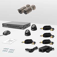 Комплект проводного видеонаблюдения Страж AHD Эконом, фото 1