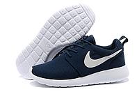 Женские повседневные  кроссовки Nike Roshe Run, сетка, синие, Р. 37 38 39 41