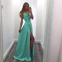"Платье  в пол на запах с разрезом ""Лина-НП29"""