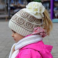 Демисезонная шапка для девочки Волна (52-56)