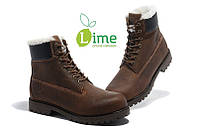 Ботинки Classic Timberland Brown 6 inch Winter Fur