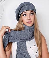 Зимний комплект «Точка» (берет и шарф)