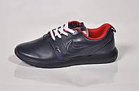 Мужские повседневные кроссовки Nike Roshe Run, кожа, синие, Р. 42 43