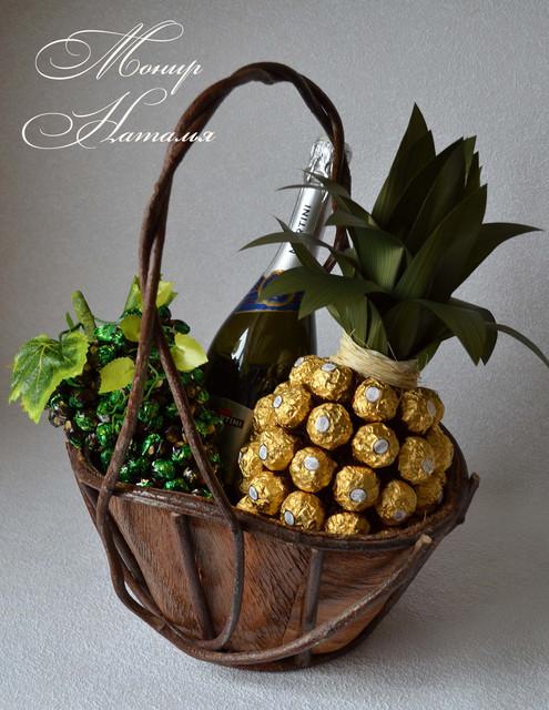 Подарки из конфет и фруктов 69
