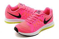Женские кроссовки Nike Air Zoom Pegasus, Лицензия!, текстиль, розовые, Р. 36, 37,5