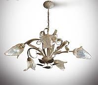 Люстра зальная 5-ламповая на высокий потолок
