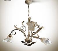 Люстра зальная 3-ламповая на высокий потолок