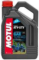 Моторное масло для квадроцикла минералка MOTUL ATV-UTV 4T 10W40 (4L)