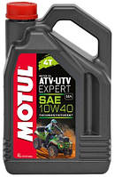 Моторное масло для квадроцикла полусинтетика MOTUL ATV-UTV Expert 4T 10W40 (4L)