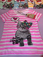Детская футболка  для девочки на 2 года