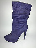 Женские демисезонные стильные полусапожки на высоком каблуке Lino Marano