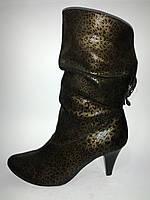 Кожаные стильные демисезонные женские полусапожки Vladeks