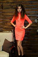 Необычное молодежное платье красного цвета