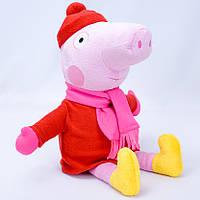 """Мягкая игрушка Свинка """"Пеппа"""" 1 в зимней одежде"""