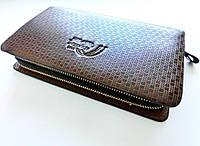 Коричневый клатч портмоне для мужчины